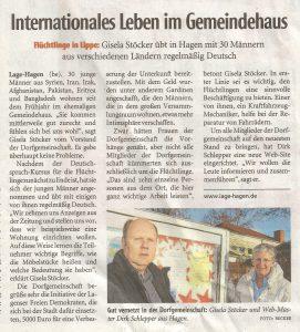 Lippische Landeszeitung vom 10. Dez. 2016